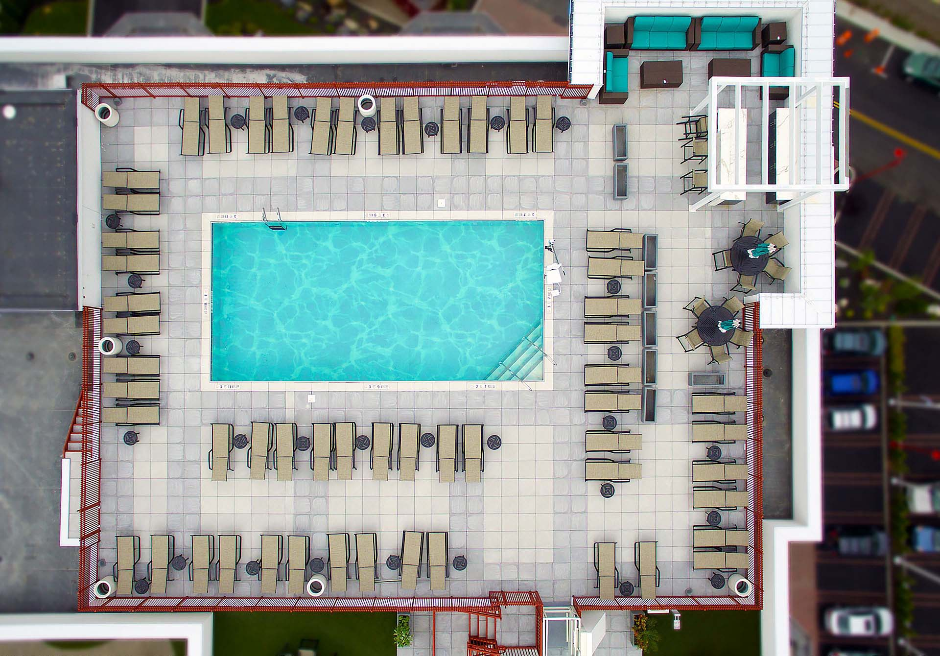 Rooftop Patio Pool Architectural Pavers
